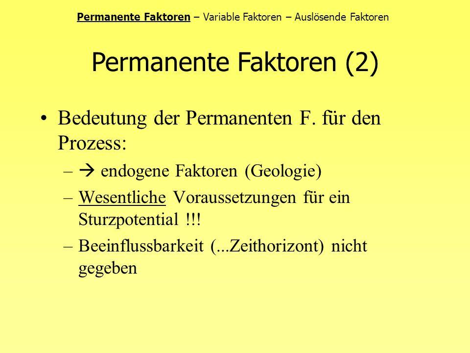Permanente Faktoren (2)