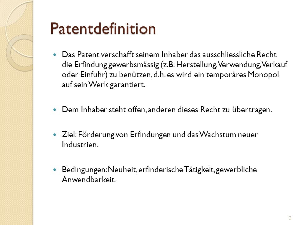 Patentdefinition