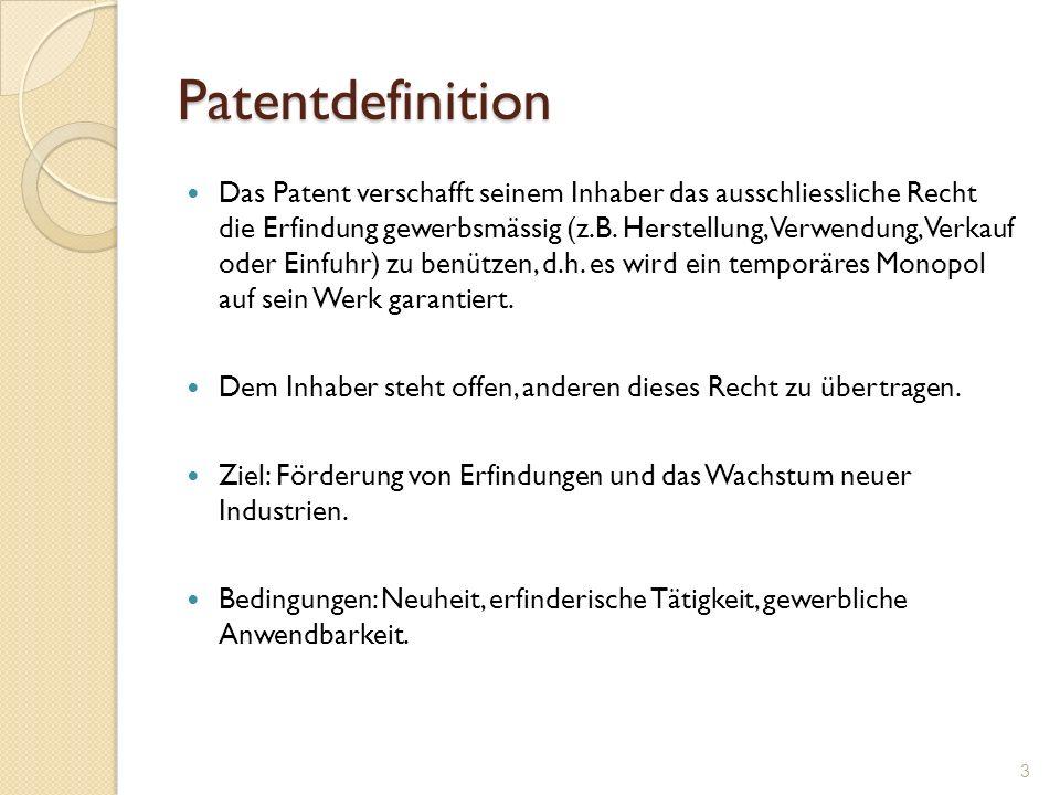 Patentdefinition