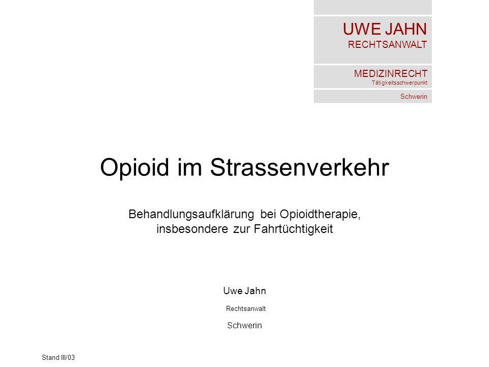 Opioid im Strassenverkehr