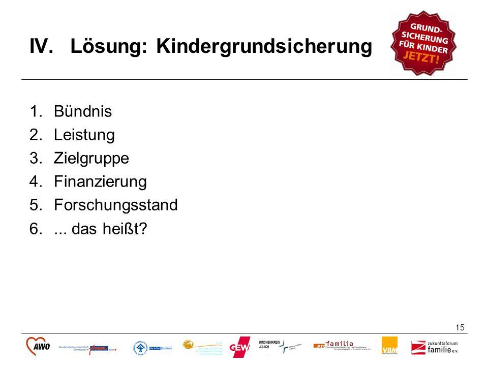 Lösung: Kindergrundsicherung
