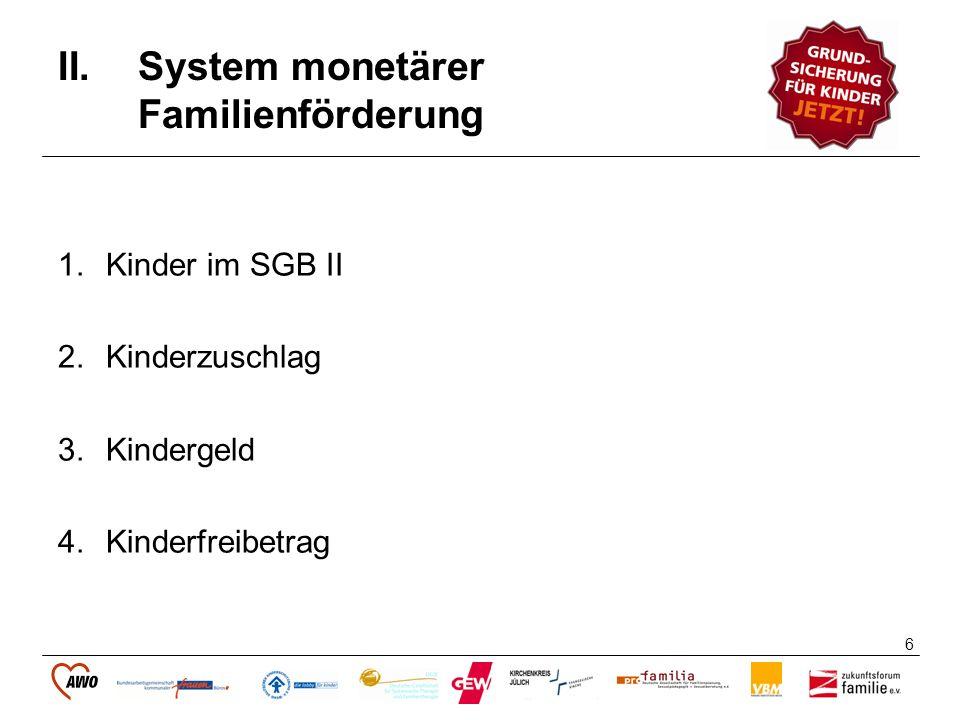 System monetärer Familienförderung