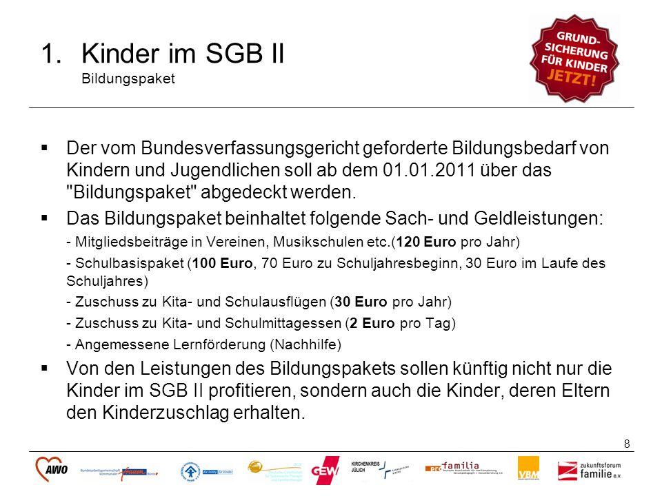 Kinder im SGB II Bildungspaket