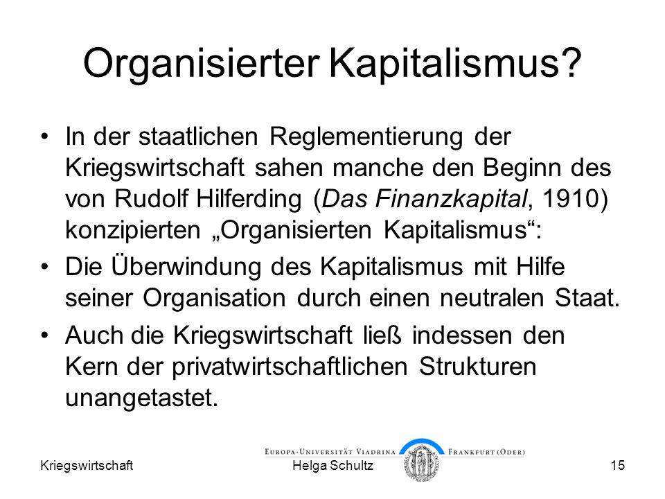 Organisierter Kapitalismus