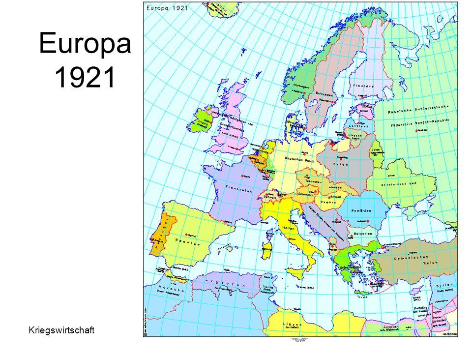 Europa 1921 Kriegswirtschaft Helga Schultz