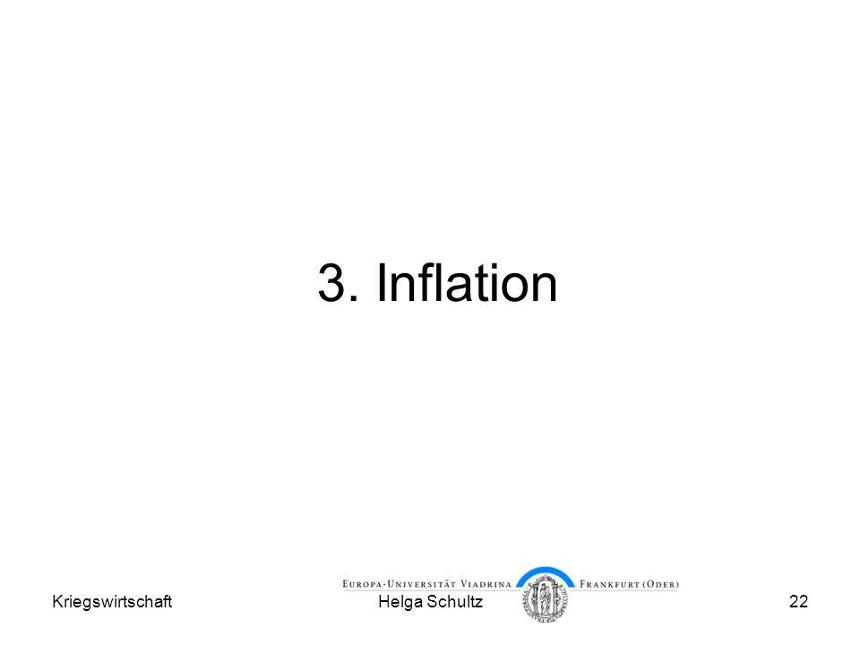 3. Inflation Kriegswirtschaft Helga Schultz
