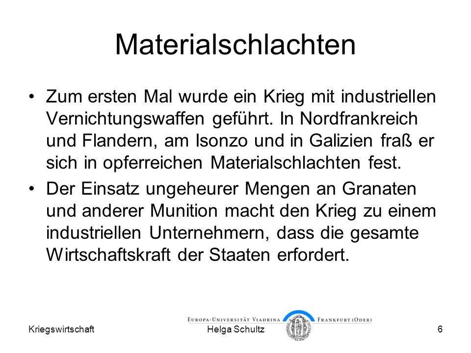 Materialschlachten