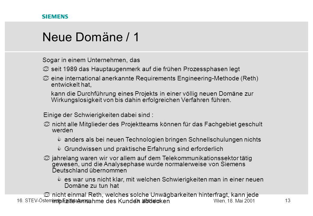 Neue Domäne / 1 Sogar in einem Unternehmen, das