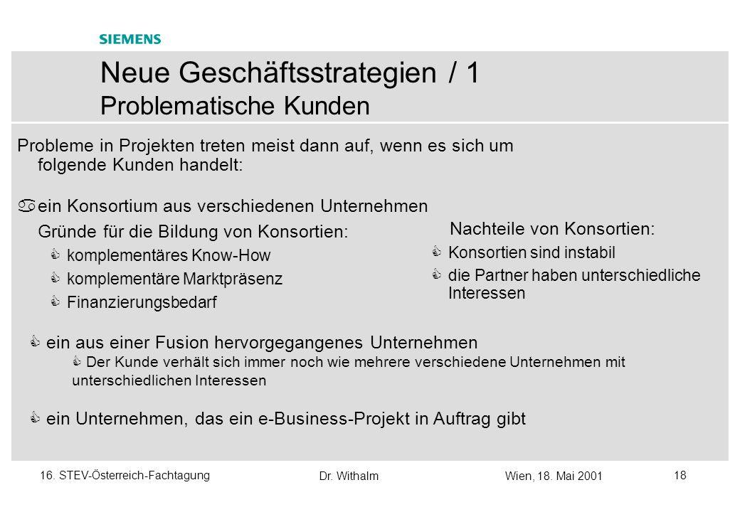 Neue Geschäftsstrategien / 1 Problematische Kunden