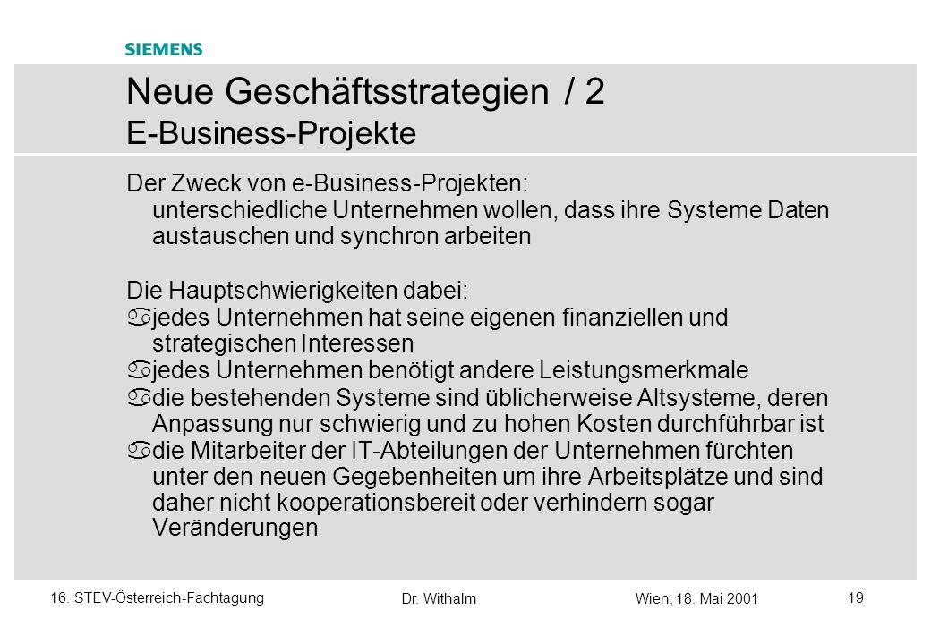 Neue Geschäftsstrategien / 2 E-Business-Projekte