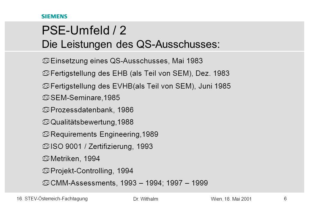 PSE-Umfeld / 2 Die Leistungen des QS-Ausschusses: