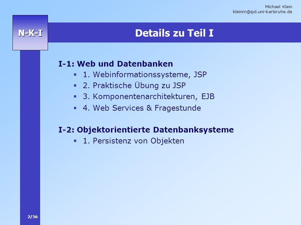 Details zu Teil I I-1: Web und Datenbanken