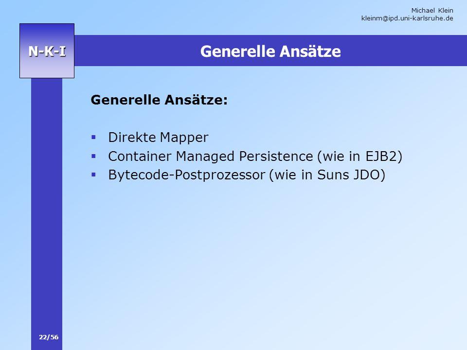 Generelle Ansätze Generelle Ansätze: Direkte Mapper