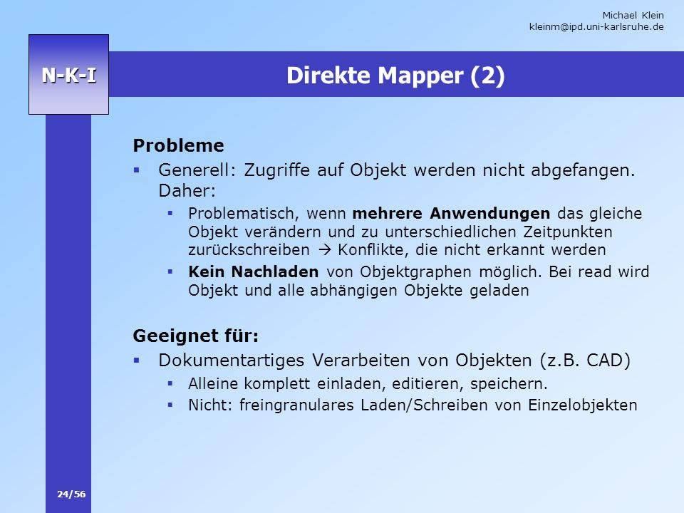 Direkte Mapper (2) Probleme