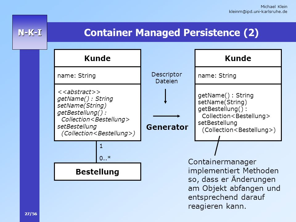Container Managed Persistence (2)