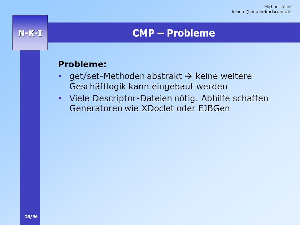CMP – Probleme Probleme:
