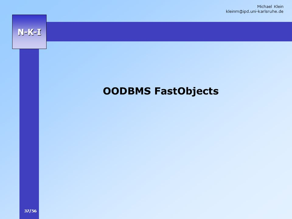 OODBMS FastObjects