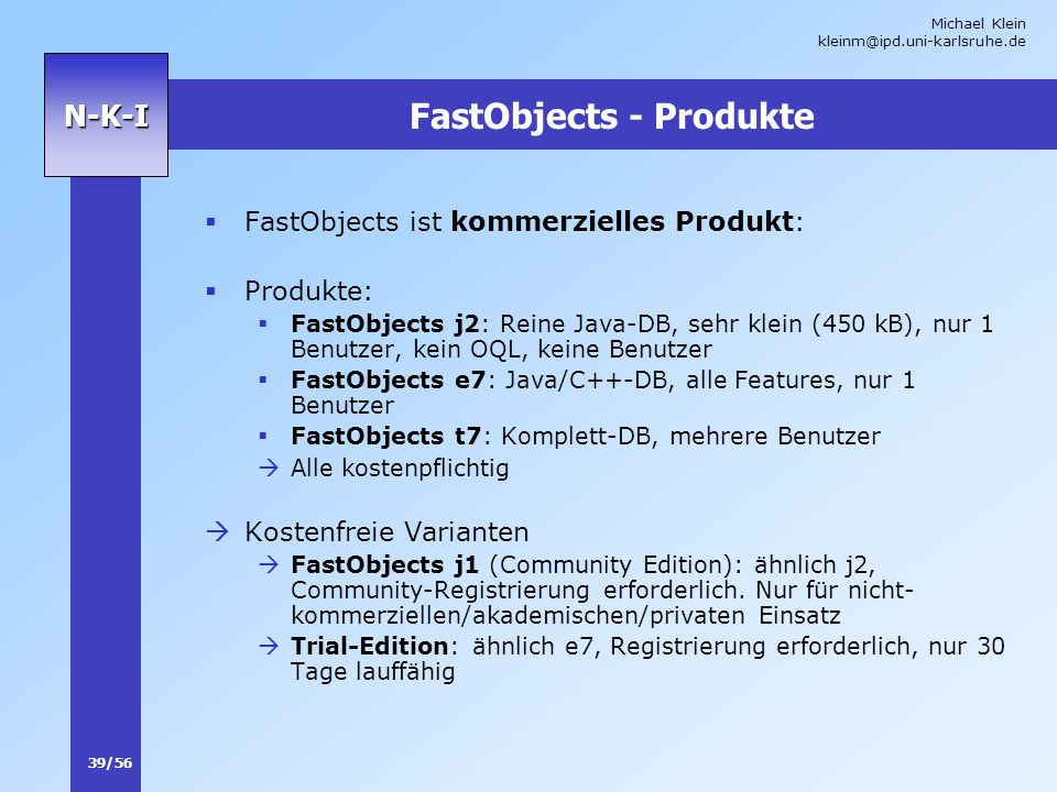 FastObjects - Produkte