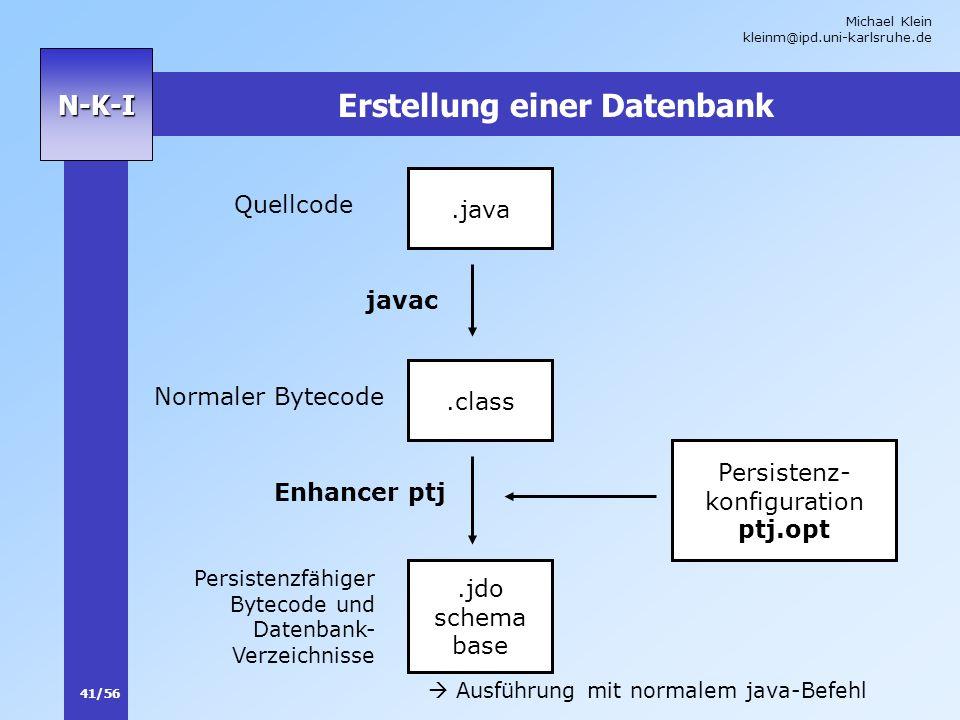 Erstellung einer Datenbank