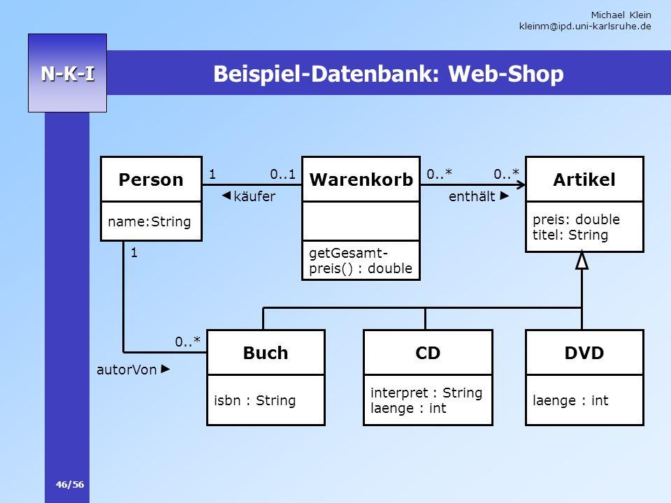 Beispiel-Datenbank: Web-Shop