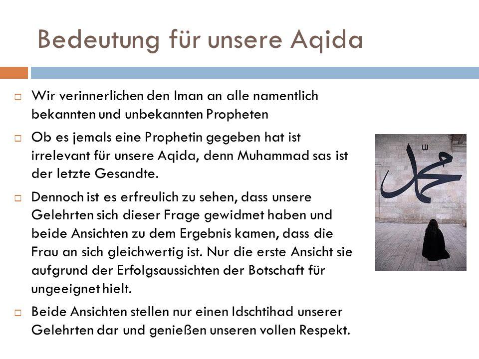 Bedeutung für unsere Aqida
