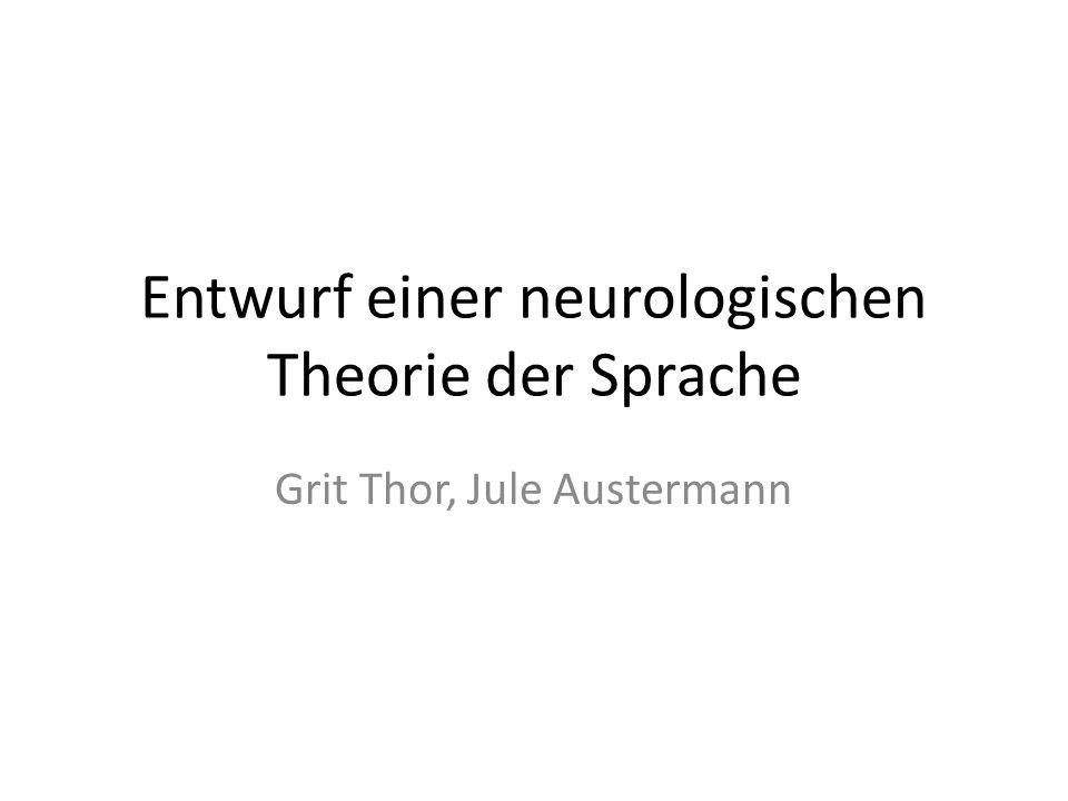 Entwurf einer neurologischen Theorie der Sprache