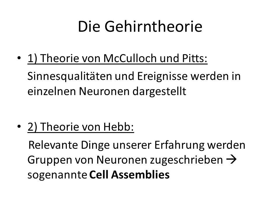 Die Gehirntheorie 1) Theorie von McCulloch und Pitts:
