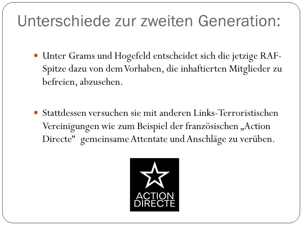 Unterschiede zur zweiten Generation: