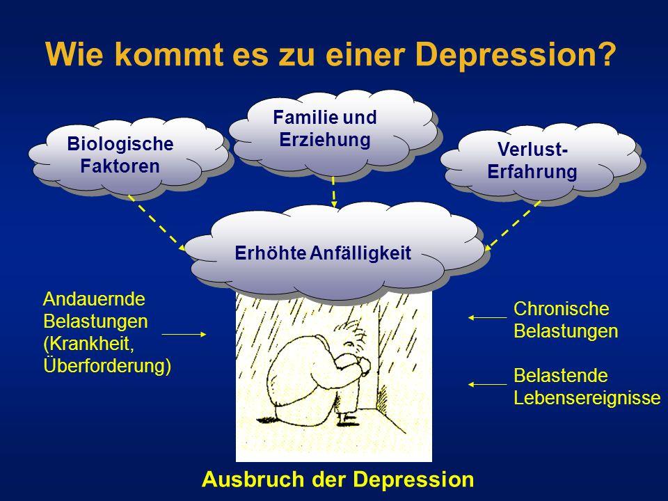 Wie kommt es zu einer Depression