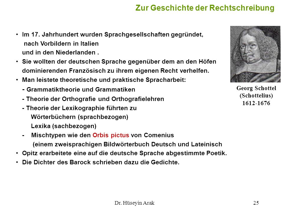 Georg Schottel (Schottelius) 1612-1676