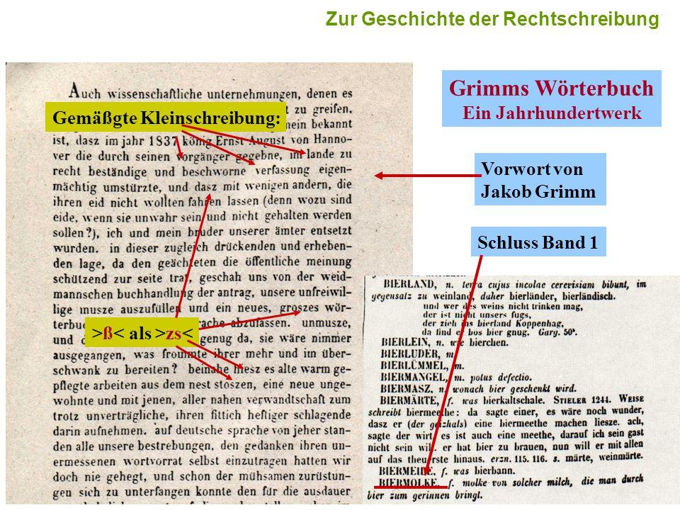 Grimms Wörterbuch Ein Jahrhundertwerk