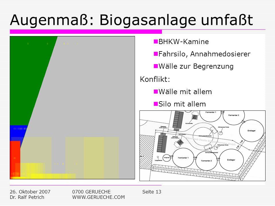 Augenmaß: Biogasanlage umfaßt