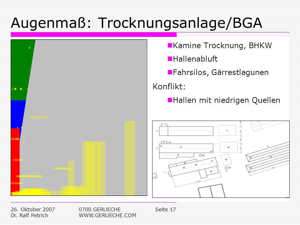 Augenmaß: Trocknungsanlage/BGA