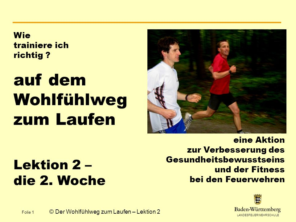 © Der Wohlfühlweg zum Laufen – Lektion 2