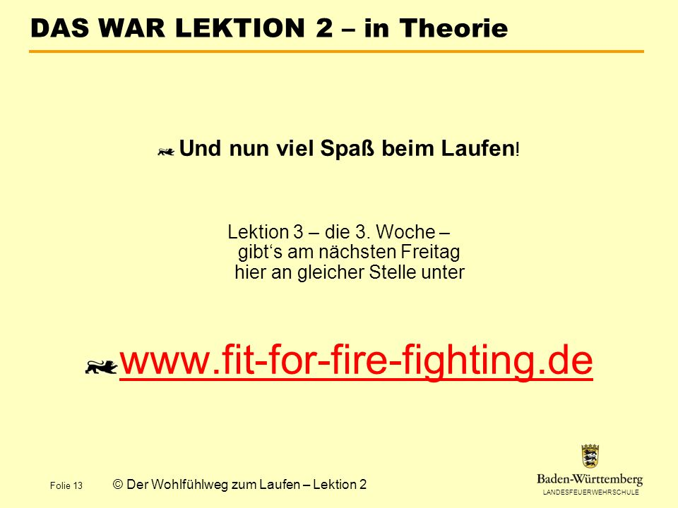 DAS WAR LEKTION 2 – in Theorie