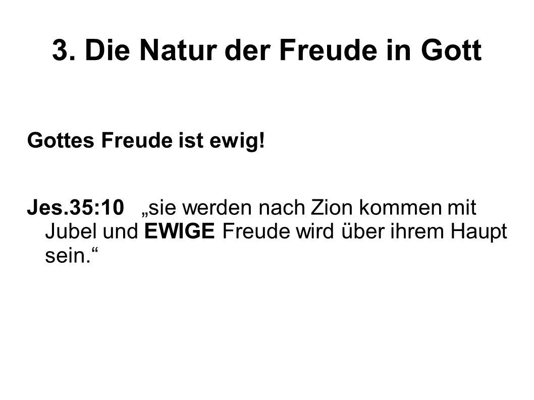 3. Die Natur der Freude in Gott