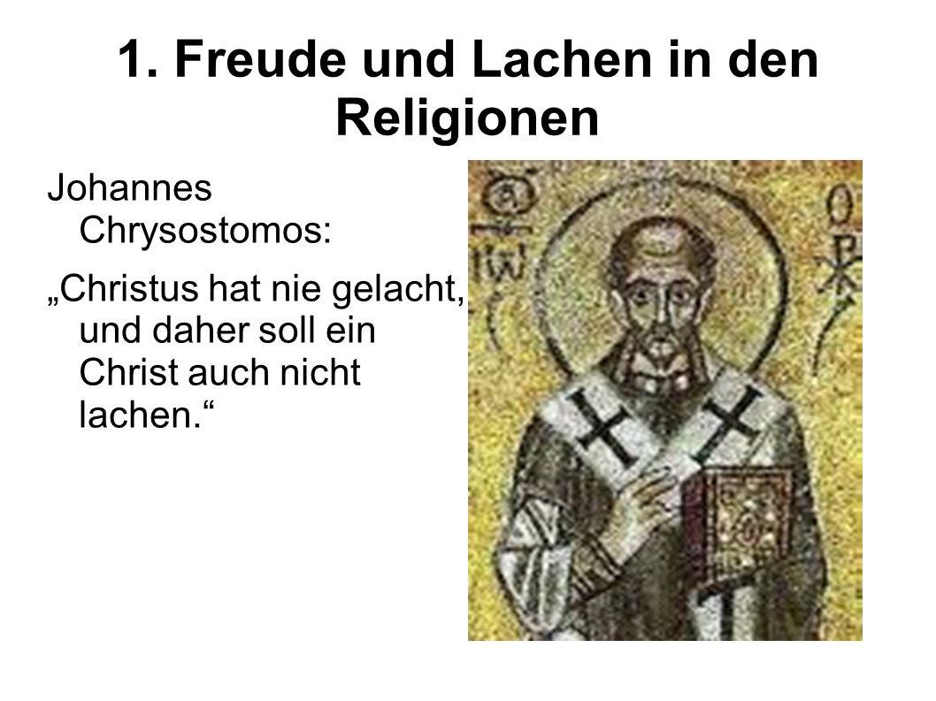 1. Freude und Lachen in den Religionen