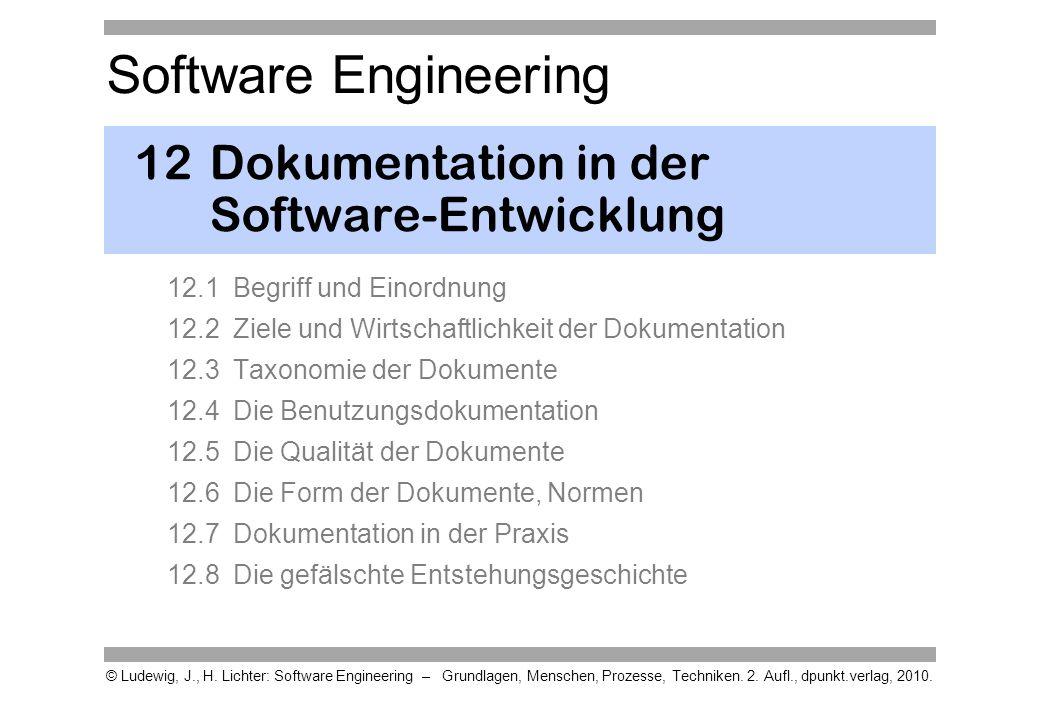 12 Dokumentation in der Software-Entwicklung