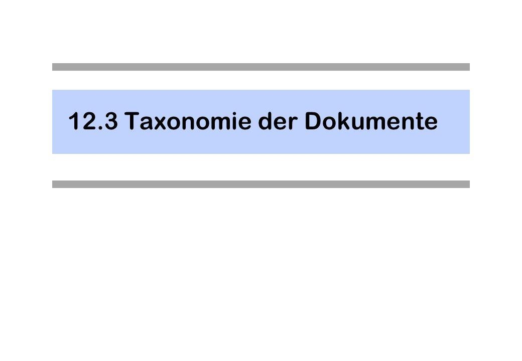 12.3 Taxonomie der Dokumente