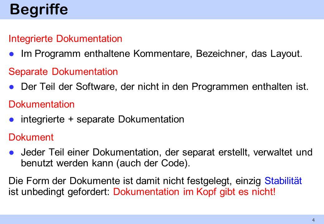 Begriffe Integrierte Dokumentation