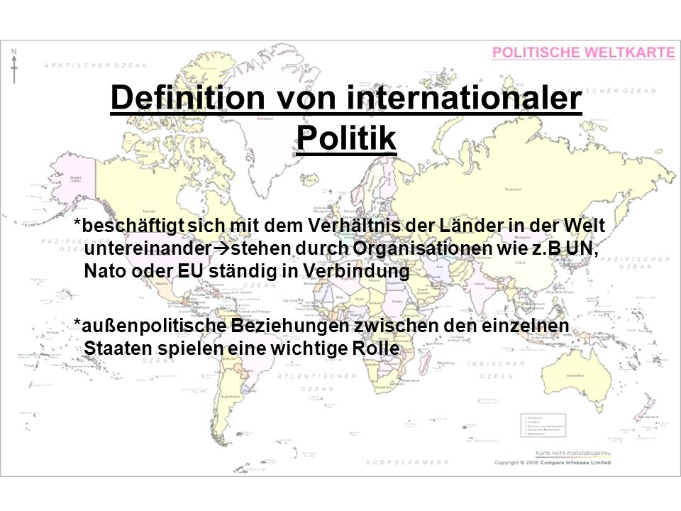 Definition von internationaler Politik