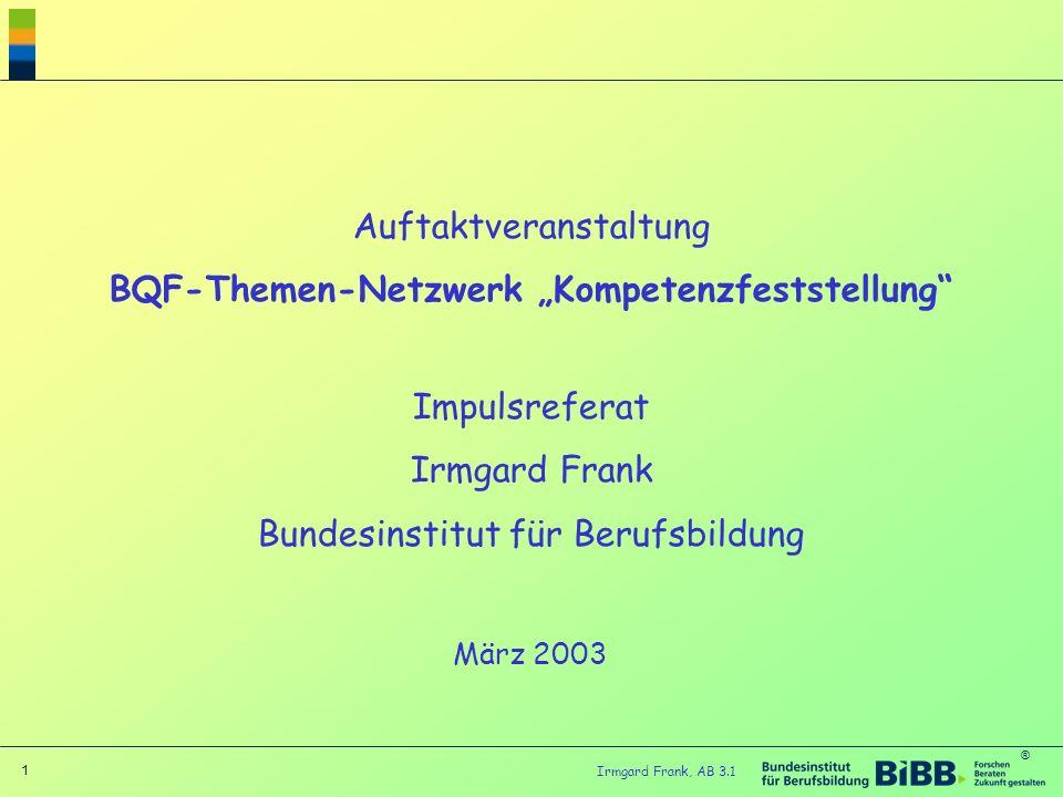 """BQF-Themen-Netzwerk """"Kompetenzfeststellung"""