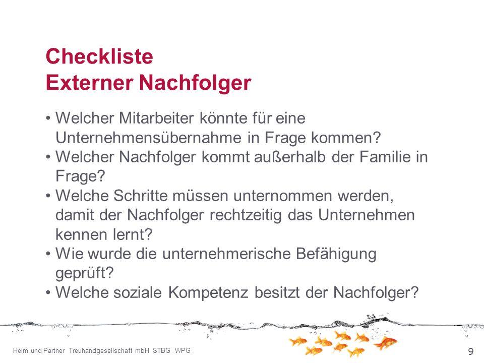 Checkliste Externer Nachfolger