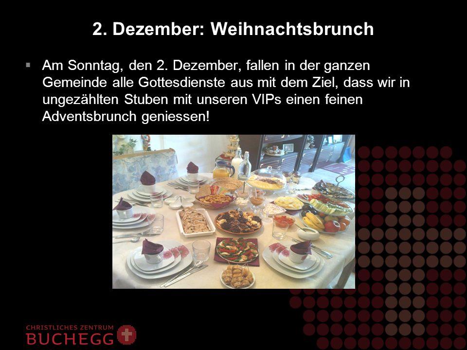 2. Dezember: Weihnachtsbrunch