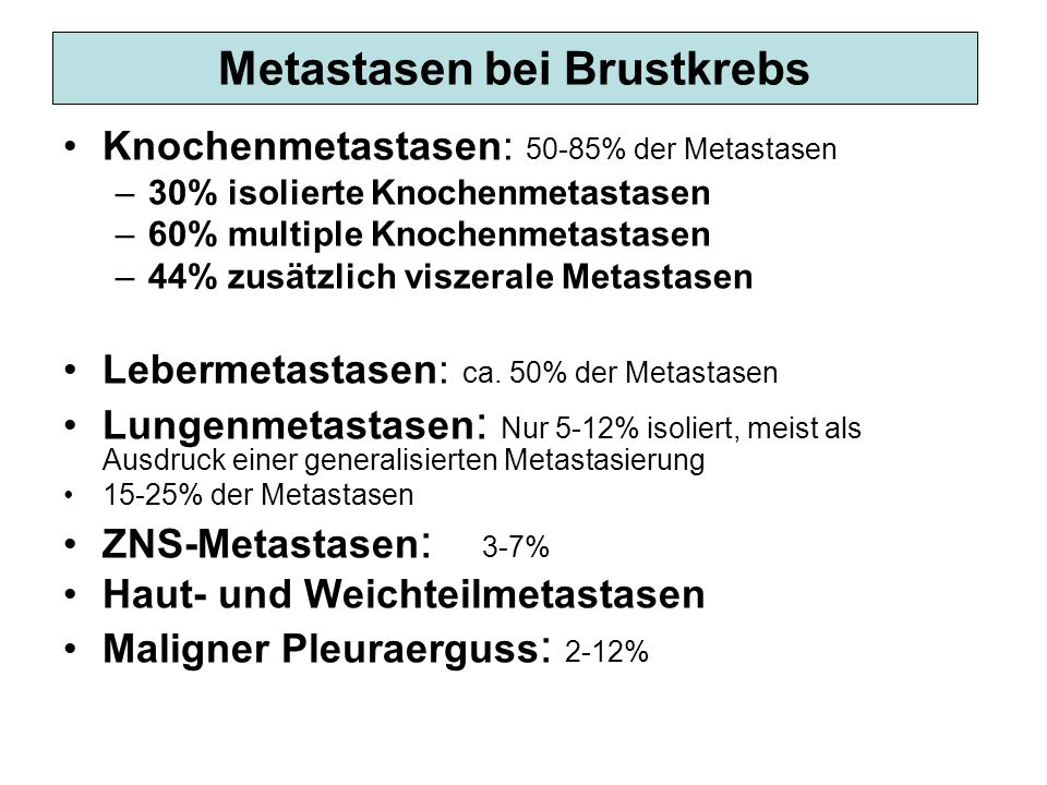 Metastasen bei Brustkrebs