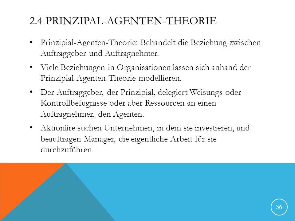 2.4 Prinzipal-Agenten-Theorie