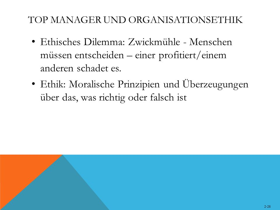 TOP MANAGER UND ORGANISATIONSETHIK