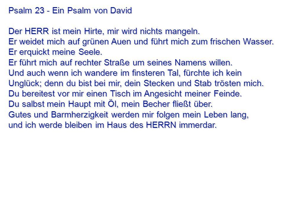 Psalm 23 - Ein Psalm von David