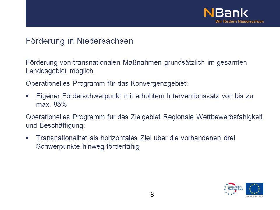 Förderung in Niedersachsen