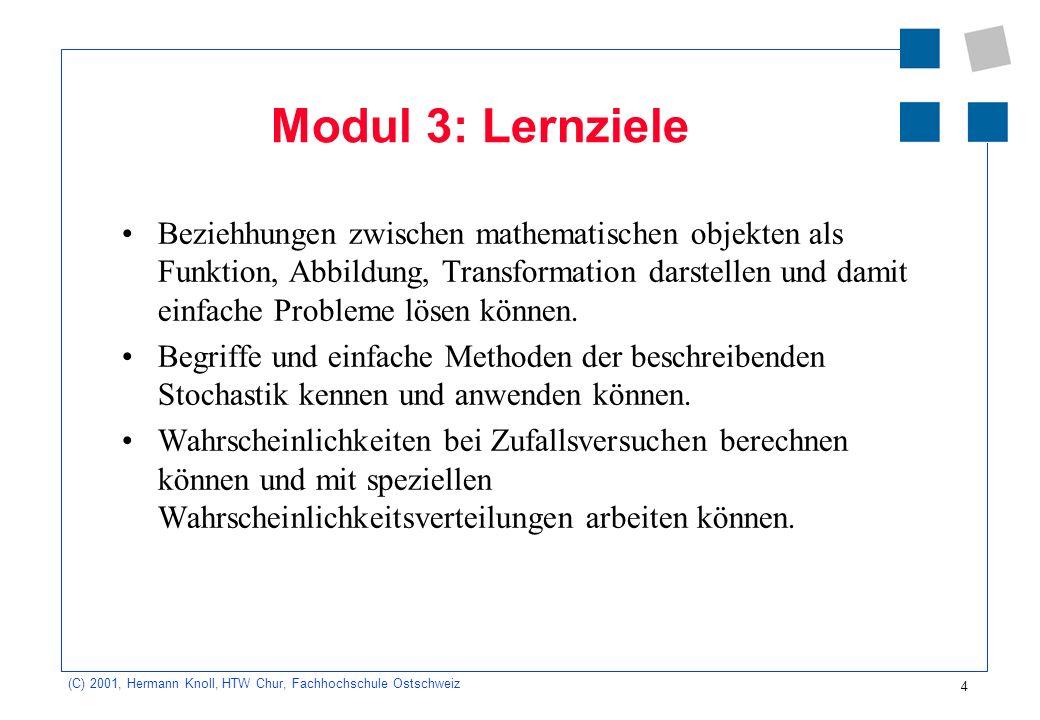 Modul 3: Lernziele